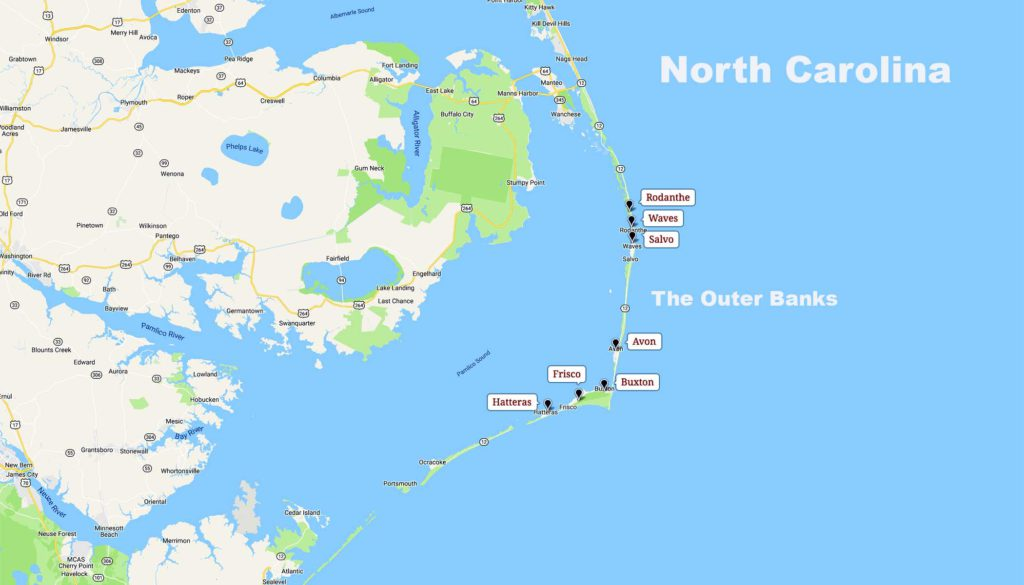 THE OUTER BANKS – North Carolina's – Unexpected Paradise ... on outer banks towns map, outer banks nc map, outer banks piers map, outer banks road map, outer banks golf courses map, outer banks island map, outer banks milepost 64, outer banks emerald isle map, outer banks ferry map, outer banks map of croatoan, outer banks campgrounds map, outer banks map poster, outer banks map of usa, outer banks street map, blue ridge parkway map milepost, outer banks lighthouse map, outer banks area map, outer banks map of villages,