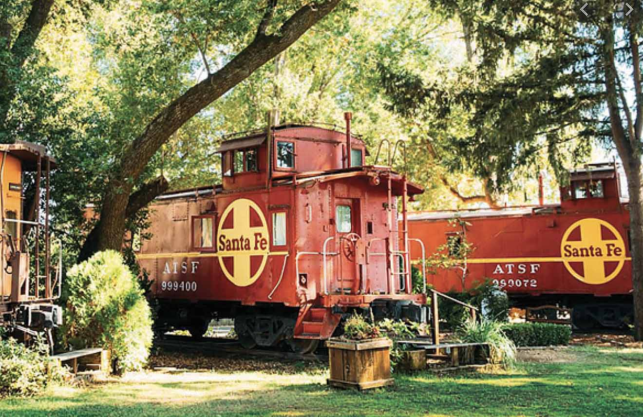 SLEEP IN A CHOO CHOO – CALIFORNIA WINE COUNTRY